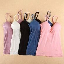 Womens wireless bras seamless bra 패딩 솔리드 탱크 탑 스트랩 m l