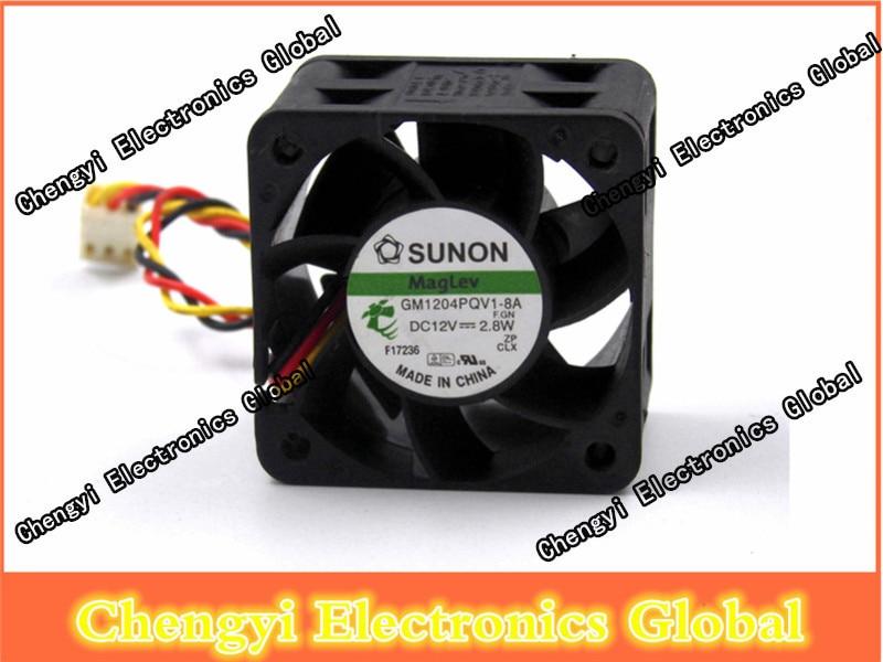 Sunon Maglev GM1204PQV1-8A 12V 2,8 W 3pin Sensor Hi Speed Case ventilador del servidor