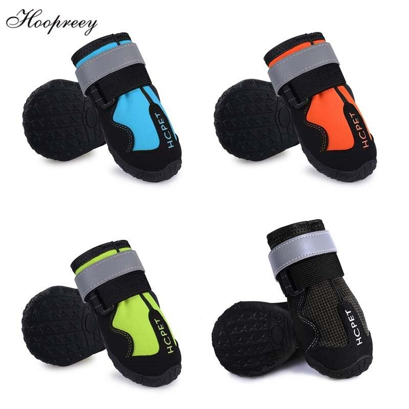 Nuevos zapatos para perros Botas de lluvia impermeables antideslizantes para perros medianos pequeños y grandes con cierre de velcro zapatillas para perro 13 para exteriores