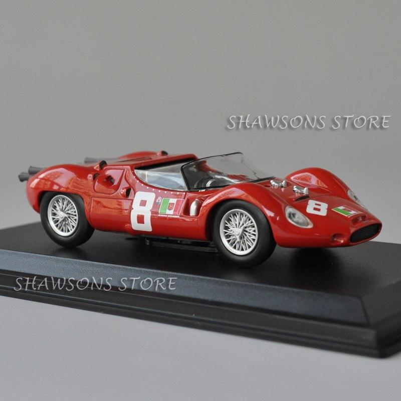 Leo modelos de brinquedos 143, carro de corrida vintage, maserati tipo 63 4 ore de coleções de pescara