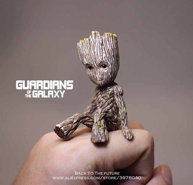 Juguete coleccionable de dibujos animados de PVC de Disney guardianes de la galaxia 2 árbol hombre lechada sentado juguete de Anime Mini figura de acción juguetes modelo