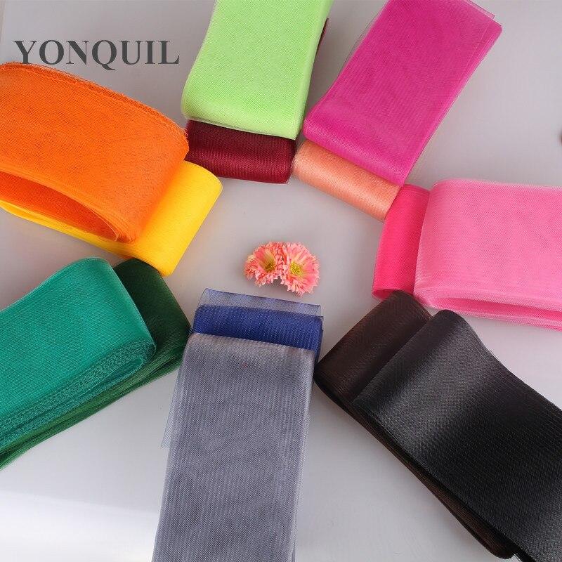 2019 36 colores Seleccione 12CM de ancho CRIN Nylon malla material de crinolina fascinator Millinery Trimming DIY accesorios 100 yardas/lote