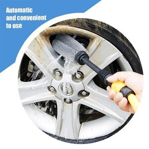 Image 1 - Автомобильная щетка для автомойки, автоматическая щетка для мойки на 360 градусов, ручной инструмент для мытья