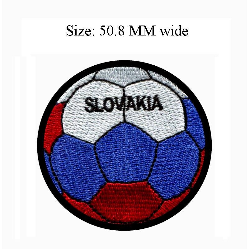 Parche de bandera de Eslovaquia de 50,8 MM de ancho para balón de fútbol envío a parcheado/aplique de tela/insignias