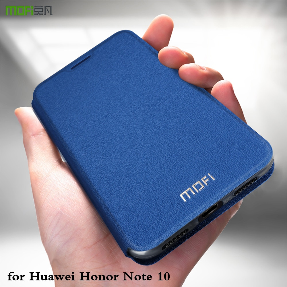 MOFi Flip Fall für Huawei Ehre Hinweis 10 Abdeckung für Honor Note10 TPU Coque PU Leder Gehäuse Folio Silikon Buch capa Shell