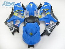 Free Custom Fairing kits for Suzuki GSXR 1000 2007 2008 GSXR1000 K7 K8 motorcycle street fairings kit 07 08 blue RIZLA+ GS26