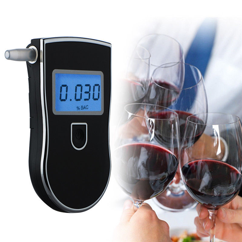 AliExpress - Portable Professional Police LCD Digital Breath Alkoholtester Breathalyzer Tester AT818 for Alcohol Driving Alcohol Detector