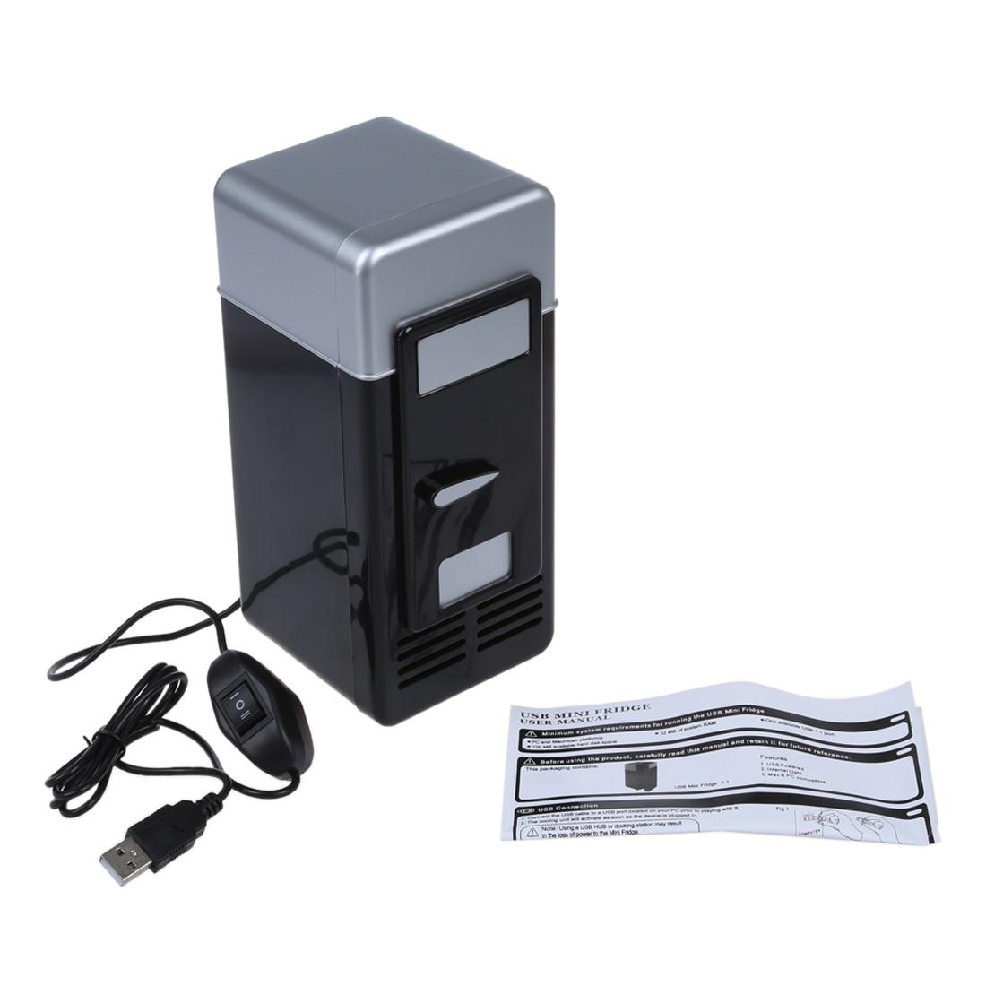 Refrigerador portátil do diodo emissor de luz/refrigerador usb mais quente refrigerador mini bebida latas refrigerador de energia para o escritório computador portátil usb gadgets