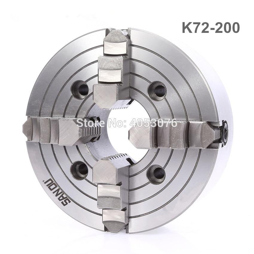 K72-200 4 jaw chuck/200MM manual lathe chuck/4-Jaw Independent Chuck