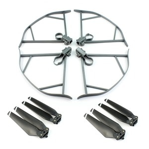1 Kit 8330F Foldable Propellers + Grey Props Guard + Extend Landing Gear Protector for For  Mavic Pro Accessory  F19885-A/B