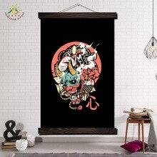 Affiche murale de samouraï sur toile   Imprimés de peinture, toile, toile, toile, peinture sur rouleau, affiche suspendue, décoration, affiche murale imprimée