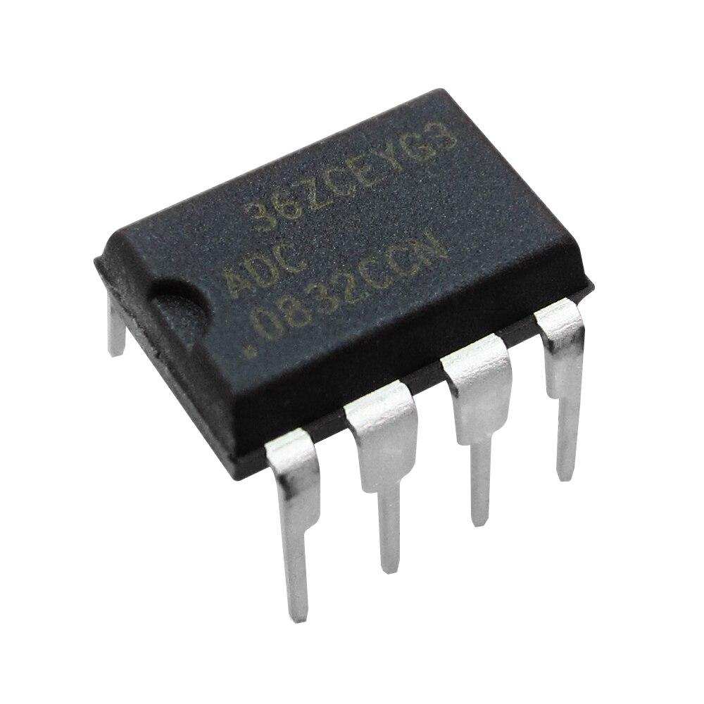 10 piezas 100% Original nuevo ADC 0832CCN ADC0832 ADC0832CCN 8-poco serie/O convertidores A/D con opciones de multiplexor DIP-8 IC