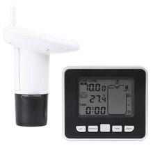 Wireless Ultrasonic Water Tank Level Monitor Water Tank Liquid Depth Level Sensor w/ Temperature Display