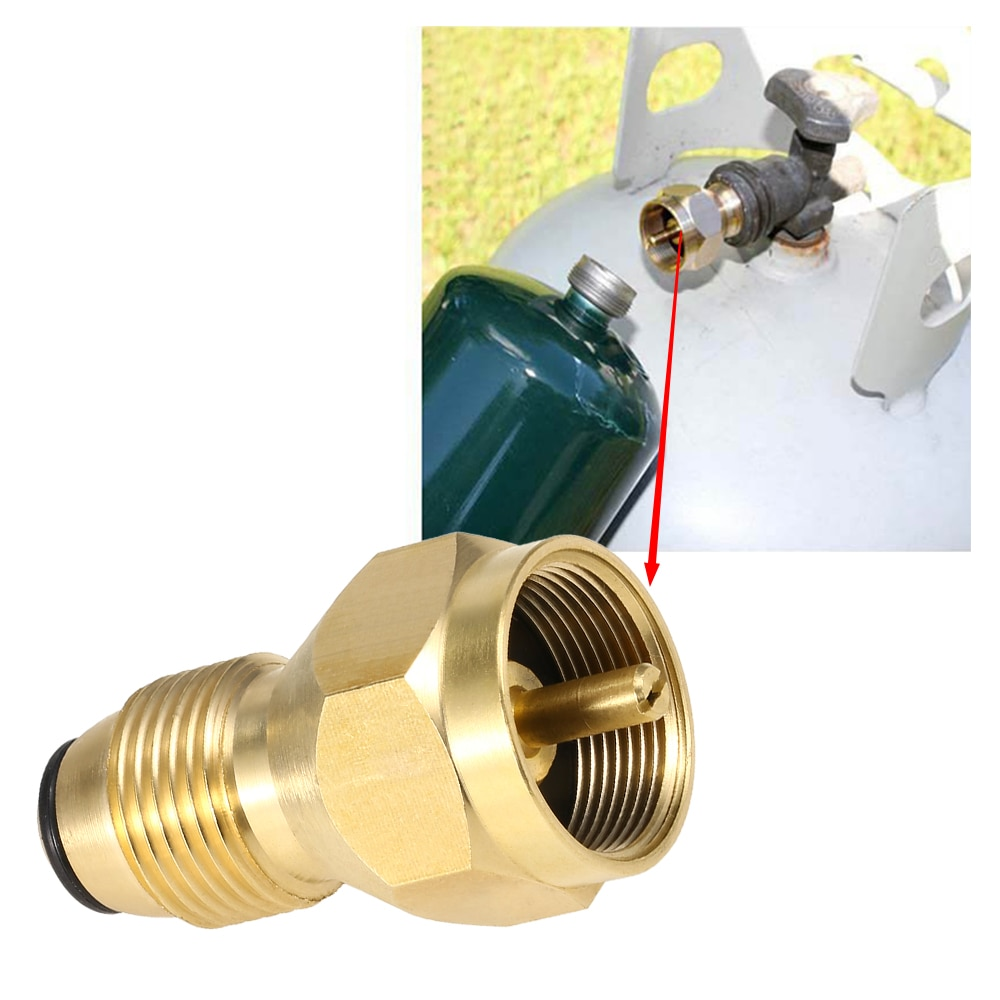 /Adaptador Lixada POL, adaptador de repuesto de propano, válvula Reguladora de latón macizo, acoplador de relleno de tanque LPG para cilindros de 1 lb