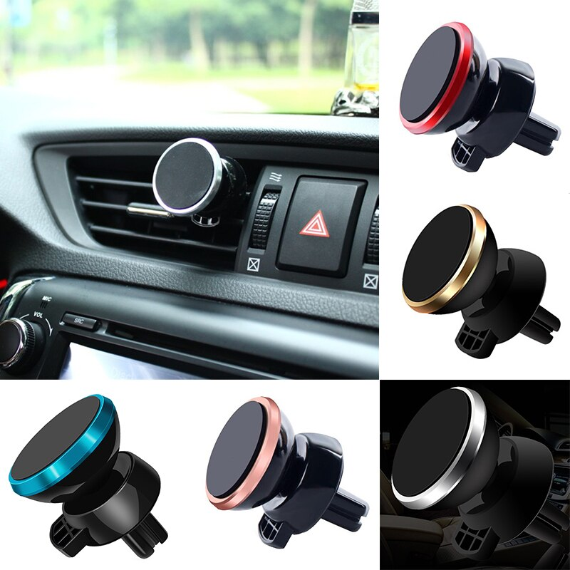 Soporte universal de teléfono para coche de 360 grados montaje de ventilación de aire magnético soporte para smartphone móvil imán apoyo celular teléfono celular en GPS para coche