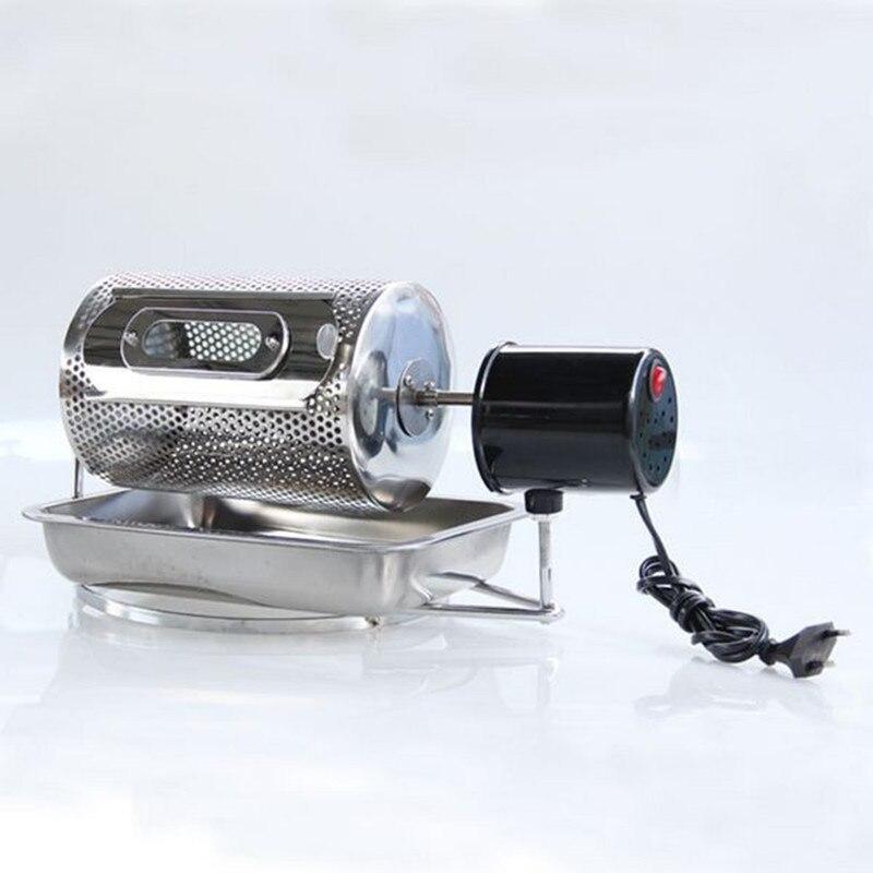 Electric stainless steel coffee roaster coffee bean roasting machine mini household coffee baking machine ZF