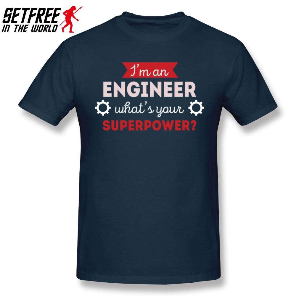 Engenheiro superpotência profissão engenharia homem t camisa hiphop família plus size algodão personalizado manga curta camisas para meninos