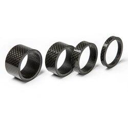 """Conjuntos espaçador de carbono Garfo headset 5,10, 15,20mm washer espaçador kit 1 1/8 """"stem bicicleta espaçadores de carbono"""