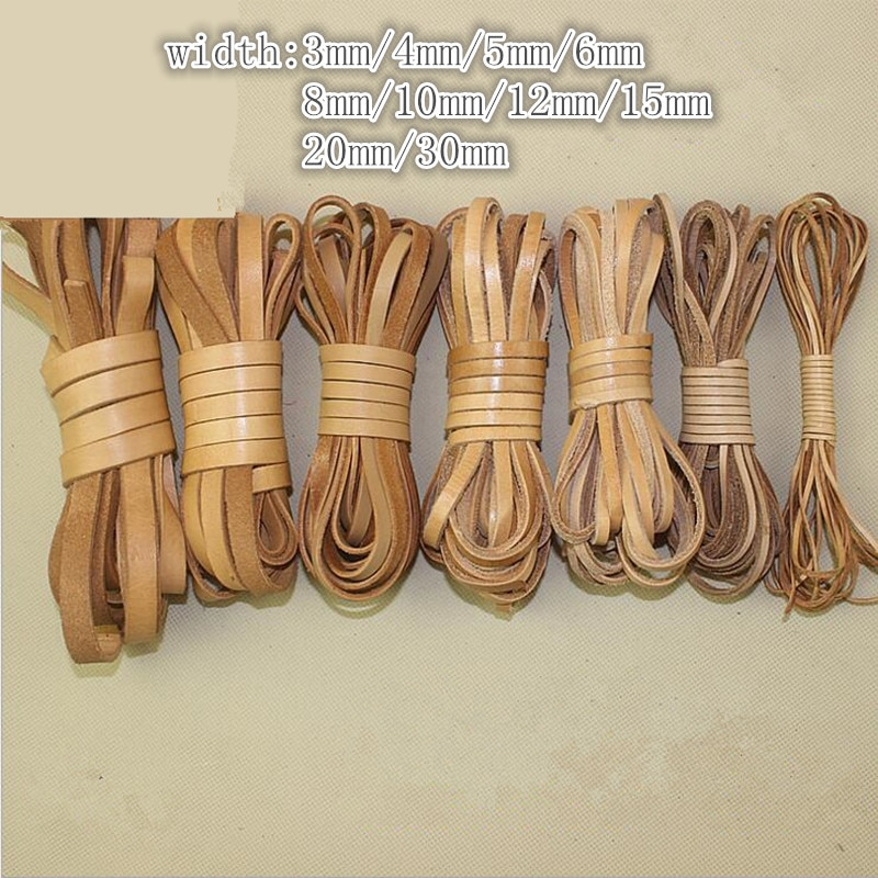 AliExpress - 2m Flat Genuine Leather Cord 2 3 4 5 6 8 10 12 20 mm Black Brown Leather Rope Thread For Diy Bracelet Necklace Jewelry Making