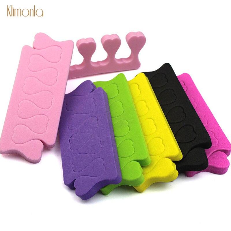 200pcs/pack Nail Art Finger Soft Foam Toe Separator Sponge Finger Separator Dividers Pedicure Manicure Nail Care Tools