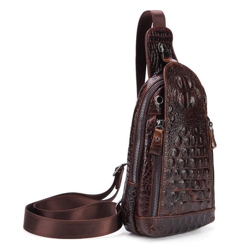 Bandolera Nesitu Vintage de piel auténtica con garantía de 100% para hombre, bolso de pecho de piel auténtica # M1313
