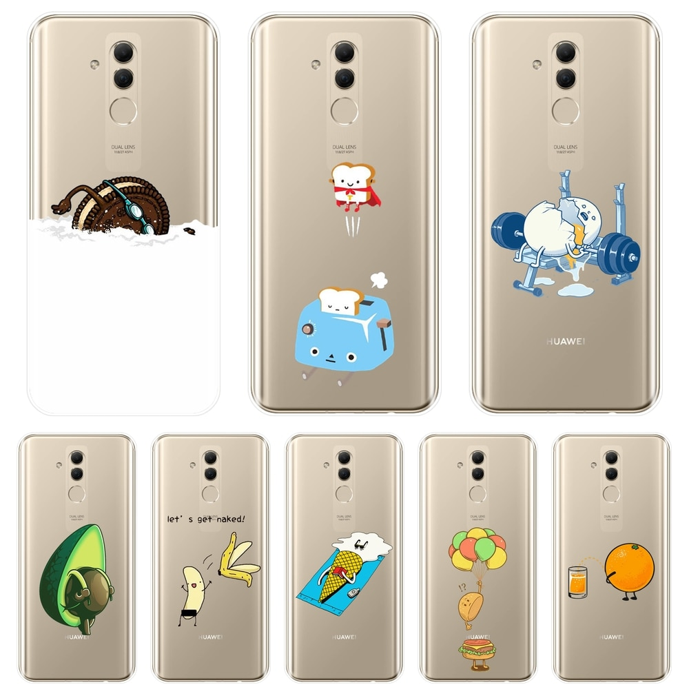 Funda de teléfono divertida de aguacate Banana Kawaii huevo para Huawei Mate 20 10 9 Pro funda trasera de silicona suave para Huawei Mate 7 8 9 10 20 Lite