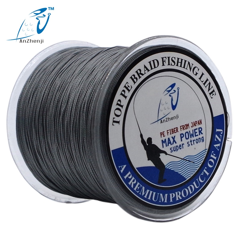 ANZHENJI  Japan Material 500M 4 Strands PE Multifilament Braided Fishing Line For Carp Fly Ice Fishing 10-100LB pesca enlarge