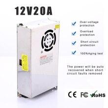 Fuente de alimentación LED Adpter Salida DC 12V 20A 240W fuente de alimentación LED transformador de potencia transformador convertidor de voltaje