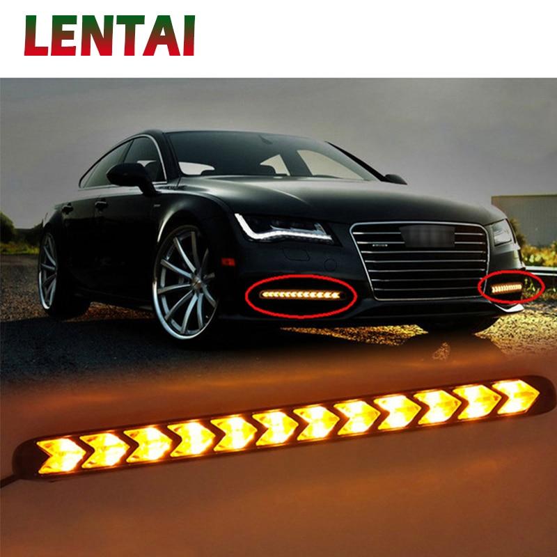 1 juego de luces LED antiniebla LED de coche EALEN con dirección amarilla para Audi A4 B6 B8 VW Passat B5 B7 Skoda Octavia A7 Renault