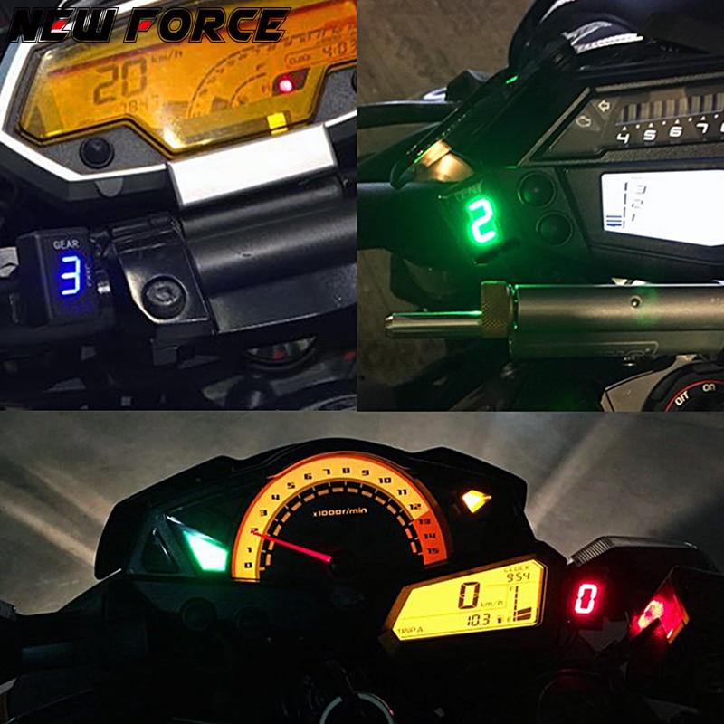 Motorcycle 1-6 Level Gear Indicator Digital Gear Meter For Kawasaki W800 W 800 2011-2017 gearwheel meter