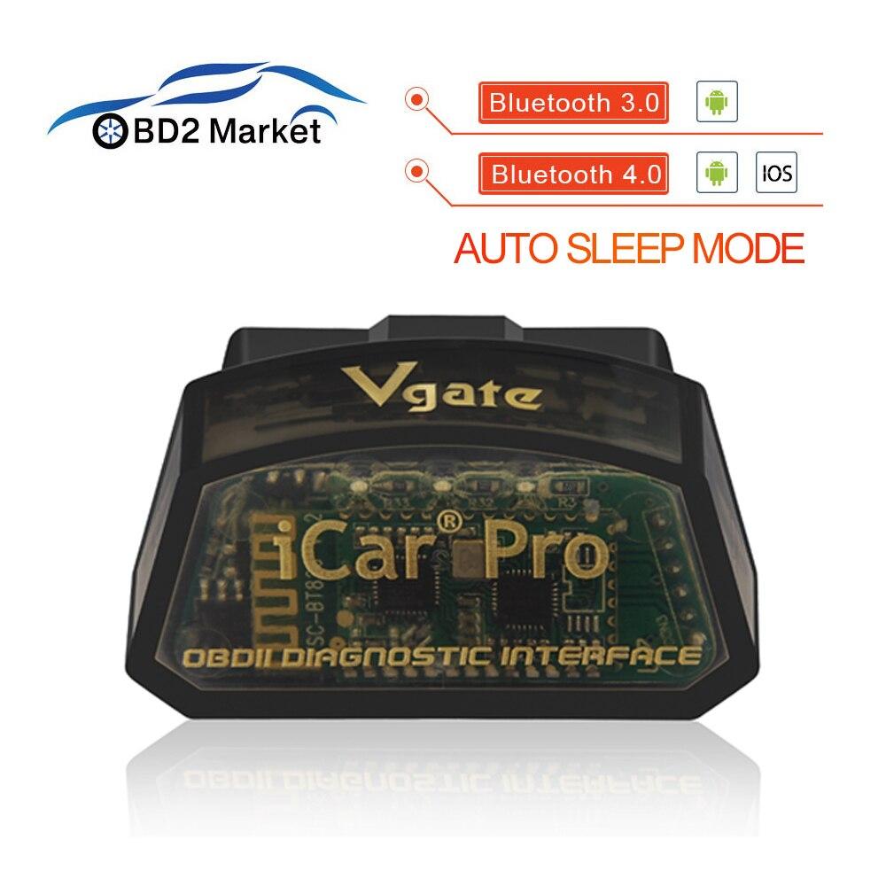 Nueva Vgate iCar Pro obd2 elm 327 adaptador de diagnóstico Bluetooth OBD2 herramienta de escaneo de escáner pro OBDII lector de código elm327 V2.1 venta caliente