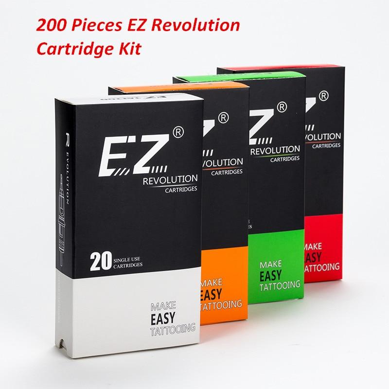 200 قطعة مجموعة مختلطة EZ الثورة خرطوشة الوشم الإبر RL RS M1 سم متوافق مع نظام خرطوشة آلات الوشم السيطرة