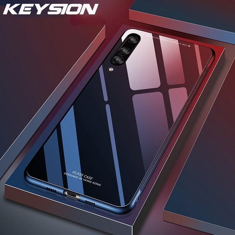 KEYSION телефон для Huawei P30 Pro P20 Lite чехол Роскошный закаленное стекло мягкая силиконовая рамка ударопрочный жесткий чехол для Huawei P30