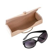 Étui de lunettes de soleil en bois   Portable, boîte de lunettes, lunettes de vue Clam Shell protecteur, nouveau