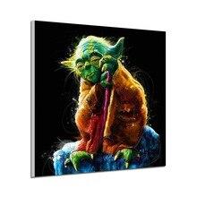 Star Wars Yoda-toile dart minimaliste   Peinture avec numéros, photo murale imprimée, décoration de chambre à coucher, pour la maison