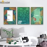 nordic green plant leaves quote canvas art print painting poster green wall pictures for living room home decor wall art