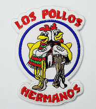 "4.5"" BREAKING BAD Los Pollos Hermanos Staff Uniform TV MOVIE Series Embroidered Iron On Patch TRANSFER MOTIF APPLIQUE Badge"
