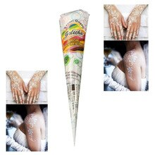 12pcs Indian Henna Paste Temporary Tattoo Beauty Women Body Paint hena Art Cream Cone For Stencil Mehndi Body Art White Color