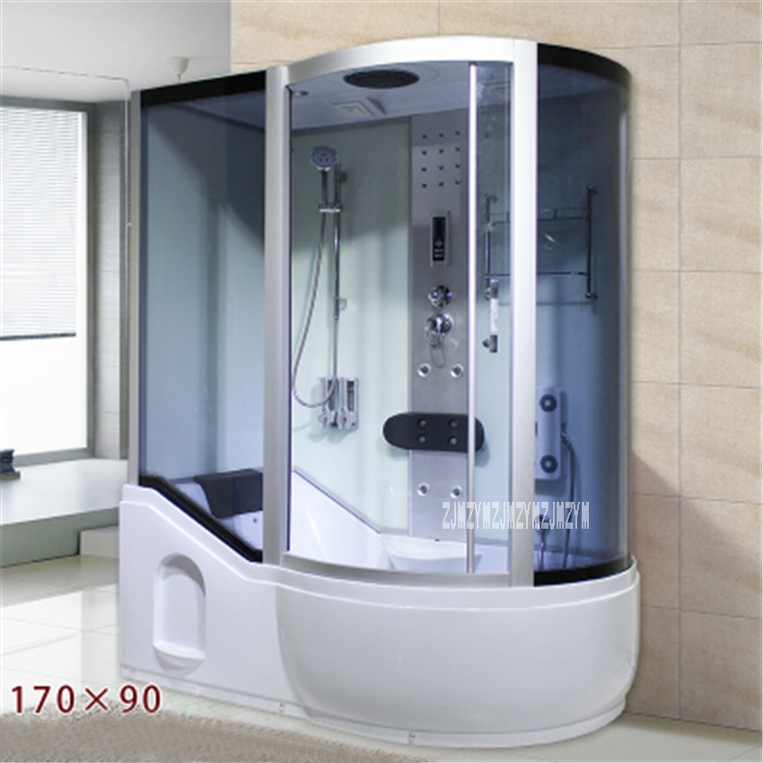 A5 Household Bathroom Shower Room Integrated One-piece Shower Room Tempered Glass Steam Shower Room With Bathtub 110V/220V 3000W