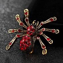 Kleine Spin Broche Voor Mannen Sieraden Glanzende Vintage Insect Pin Broach Mode Bruiloft Hijab Accessoires Mannen Hoeden Bijoux