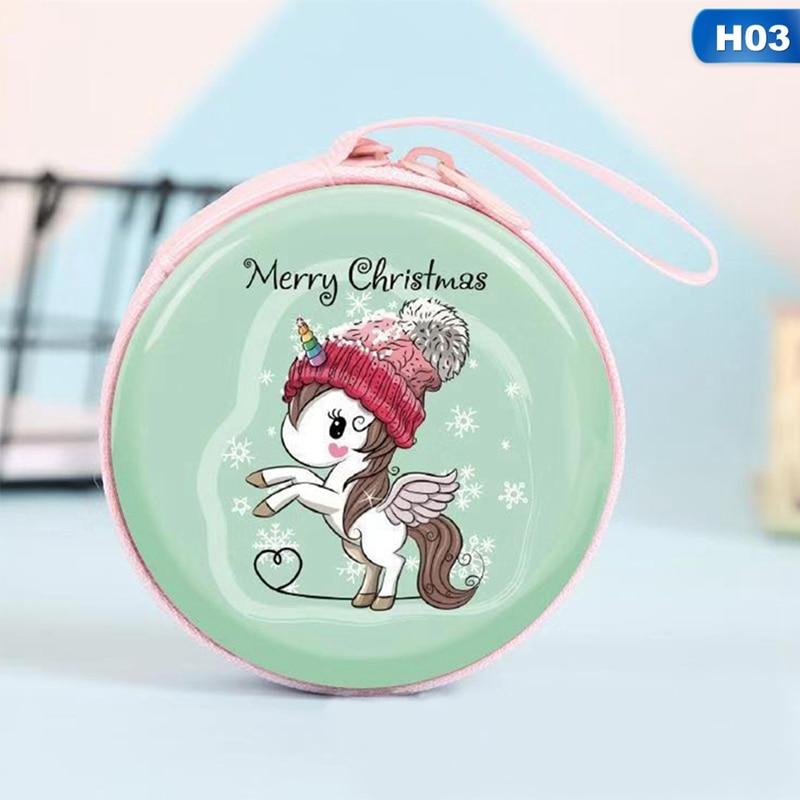Nuevo Mini bolso Kawaii de dibujos animados unicornio monedero lindo niños niñas billetera auricular organizador caja bolsa para regalo de Navidad