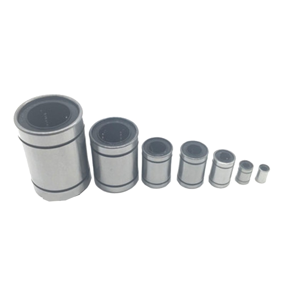 1PCS LM8UU 8mm LM3UU LM4UU LM5UU LM6UU LM10UU LM12UU LM16UU LM20UU linear bushing CNC Bearing for rod Liner shaft  Parts new 8mm bearing bushing sc8v sc8vuu scv8uu linear bearing block for 8mm linear shaft