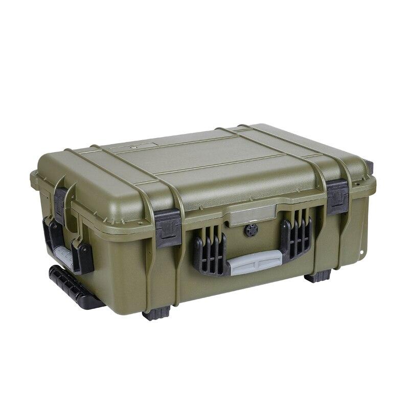 external 610*440*250mm IP67 waterproof plastic hard camera case with pick pluck foam