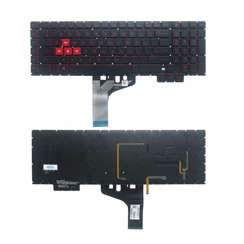 YALUZU جديد ل HP فأل 17 ل 17-an00 17-an013tx 17-an014tx 17-AN000 031TX 016NG 053NR الخلفية لوحة المفاتيح الإنكليزية الأحمر رسائل