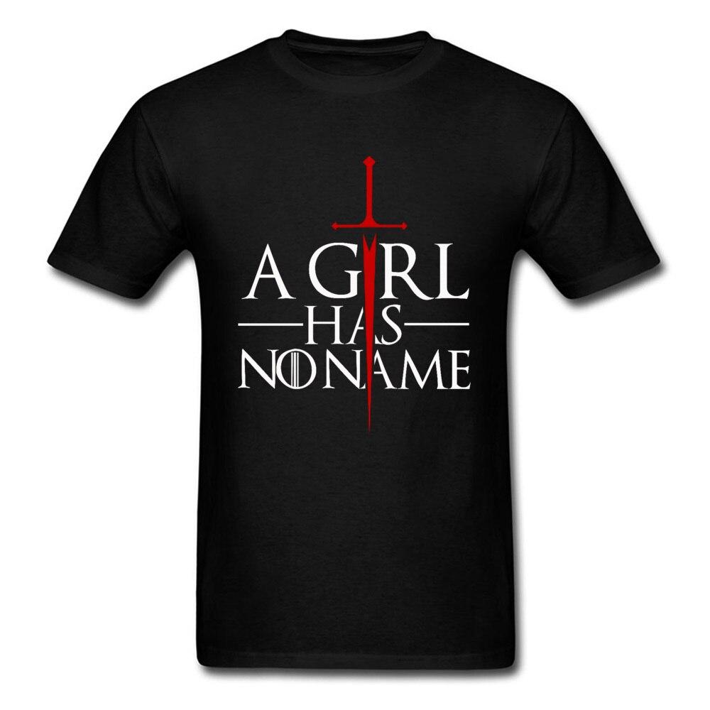 Camiseta de Juego de tronos, una niña No tiene nombre, No es la letra de ahora, camisetas de algodón puro para hombre, camiseta Normal de diseño extragrande de talla grande