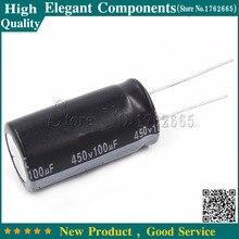 10 stücke 450 V 100 UF elko 100 UF 450 V 450 V/100 UF Größe 18*30MM aluminium-elektrolytkondensator