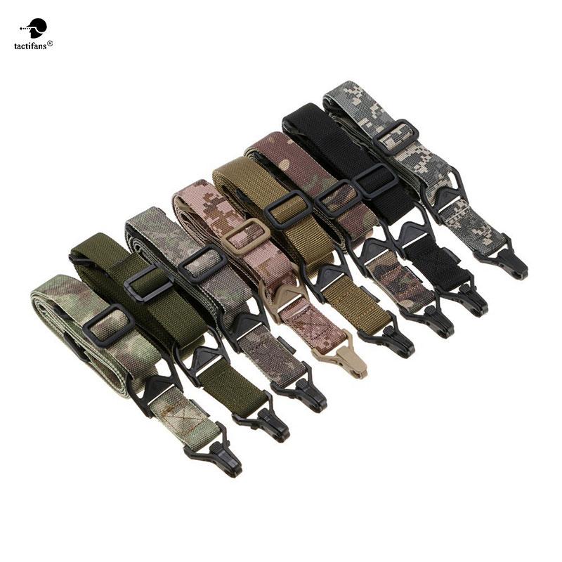 Tactifans Multi-Missão 2 Point Rifle Sling Bungee Gun sling Strap Survival Wargame Militar Paintball Caça Ajustável Ferramenta