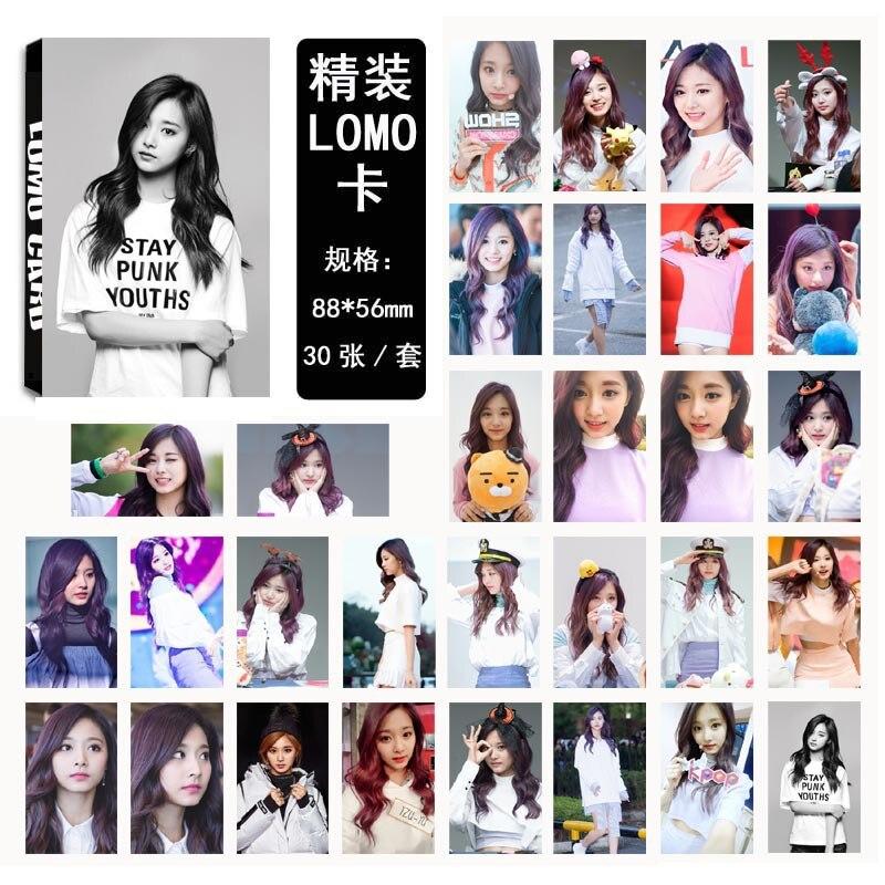 [MYKPOP] dos veces Tzuyu TT LOMO tarjetas K-POP moda 01 papel foto tarjeta HD sesión fotográfica SA18030423