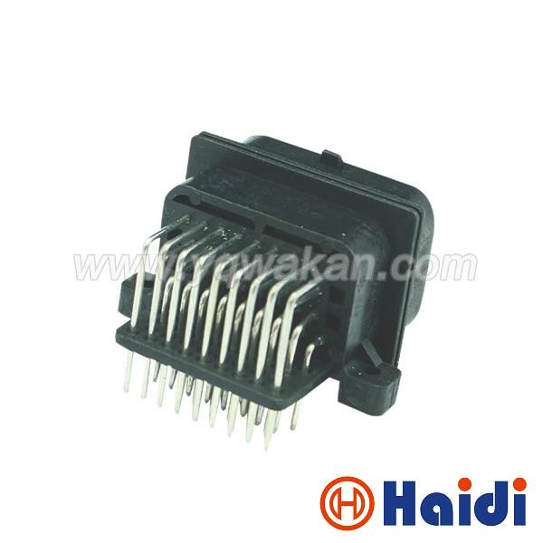 Envío gratis 1 juego Tyco auto 34pin ECU conector macho para 4-1437290-0 34 vías conector de cable de control ECU