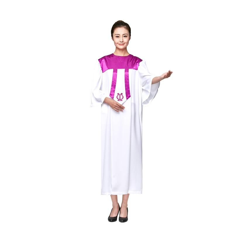 جوقة الكنيسة الصيفية ، ملابس عالية الجودة ، ثوب الجوقة ، للجنسين ، 4 ألوان